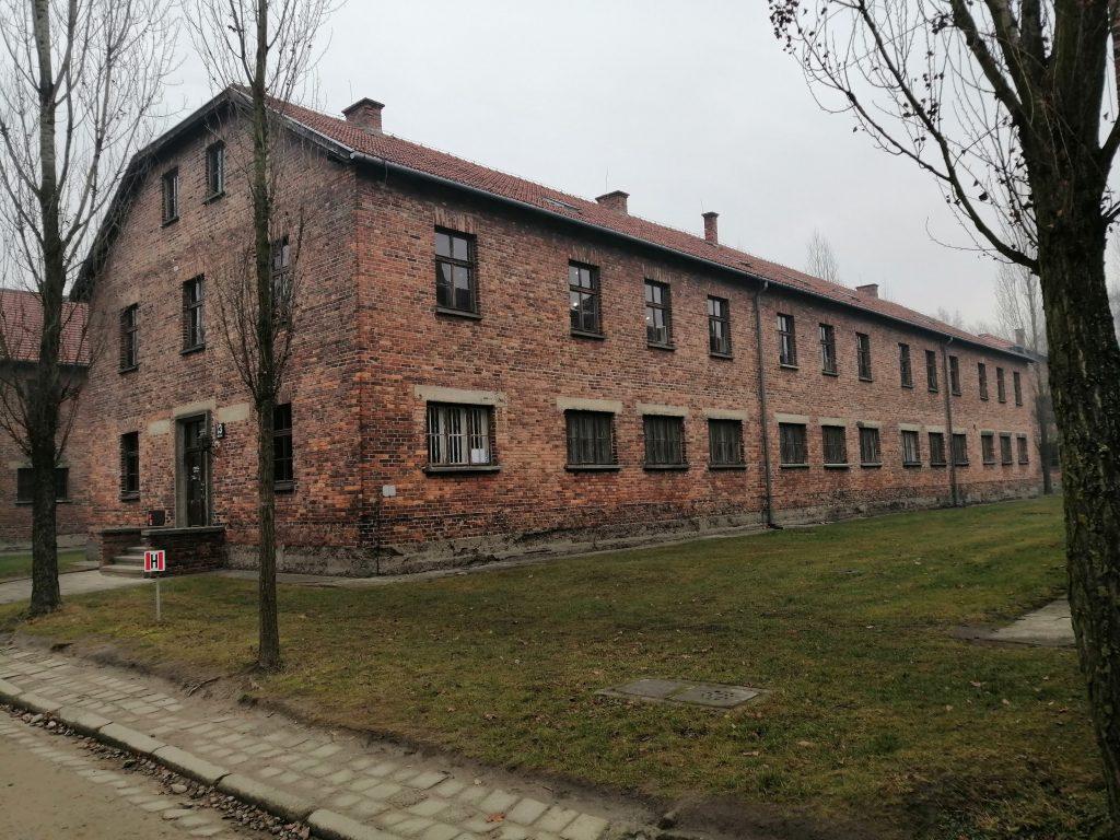 Барак в Освенциме.