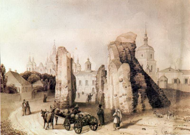 """Картина Михаила Сажина: """"Руины Ирининского монастыря"""""""